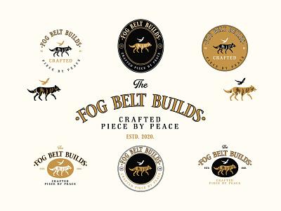 Fog Belt Builts | Logo Design badge logo branding illustration logo carpenter logo wolf logo vintage logo logo designer logo design