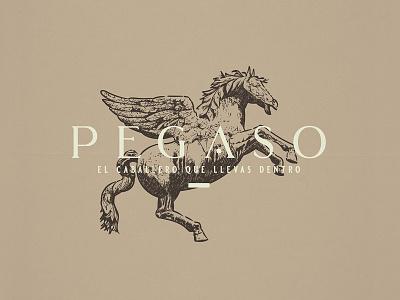 Pegaso | Logo Design logo concept crosshatch etching pegasus branding adobe illustrator logo logo design vintage logo illustration logo designer illustrat graphic design