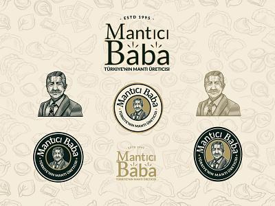 Vintage Logo | Mantici Baba turkey turkish logo crosshatch engraving etching business logo logo logo design vintage logo illustration logo designer