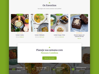 Ui redesign - Healthy food store ux branding ui web
