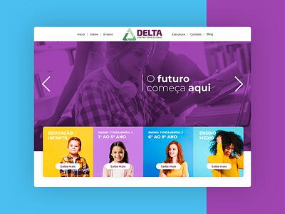 Colégio Delta - Site website branding web app ui