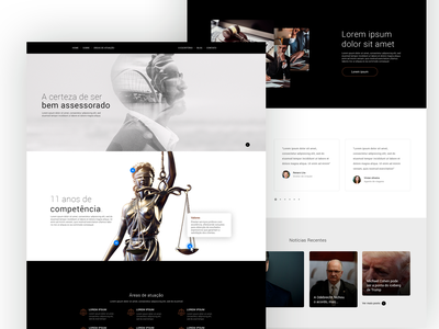 Assessoria Jurídica Website v1 flat minimal website web branding ui ux