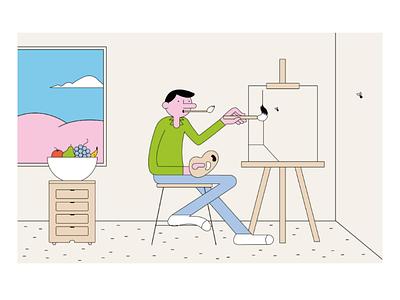 Le sujet dessin character design minimal digital art graphisme design graphic illustrator illustration