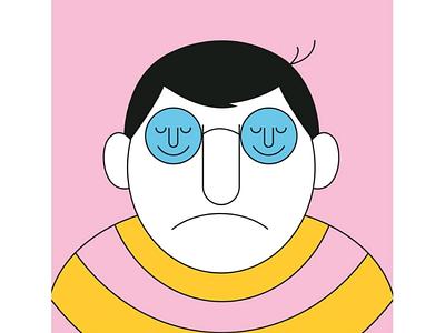 Happy? minimal character design digital art graphisme design graphic illustrator illustration