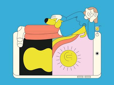 Holidays dessin character design minimal digital art graphisme design graphic illustrator illustration