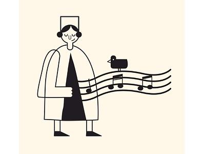 Music 2 illustrator music illustrateur illustration minimal digital art graphic design