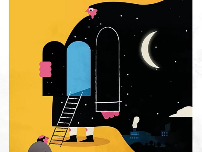 C'est la nuit draw character digital art graphisme design graphic illustrator illustrateur illustration