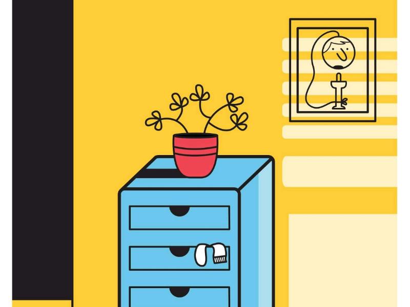 Intérieur graphisme minimal digital art design graphic illustrator illustrateur illustration