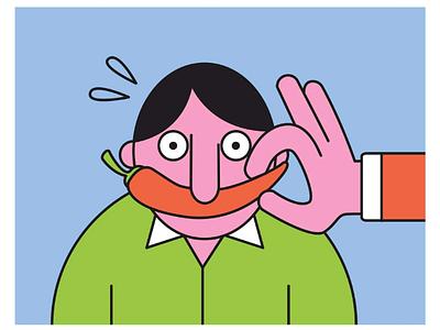 Piment minimal character digital art graphisme digital design illustrateur illustration