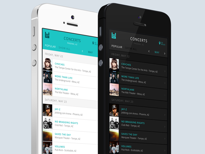 Music Concert App by Andrew on Dribbble
