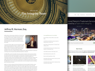 Integrity Patent Group Responsive Website website webpage homepage ui design clean flat navigation about