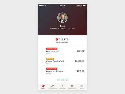 Mobile Alerts Dashboard notification web design ux ui list transaction finance alert app mobile