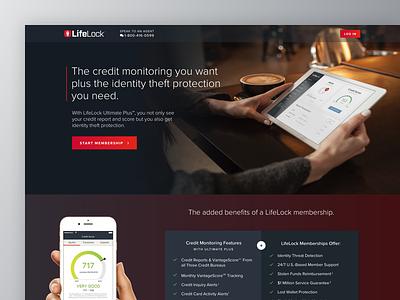 Credit Landing Page app product web design website landing page credit