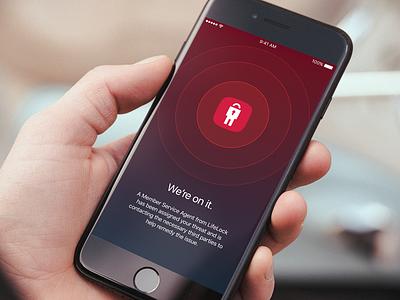 LifeLock - We're on it ios phone device screen loading design app ux ui mobile