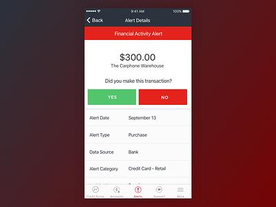 LifeLock Alert Mobile App ios phone device screen loading design app ux ui mobile