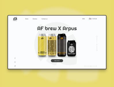AF Brew promo page concept
