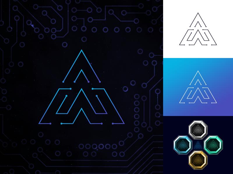 AmaanGameZone Letter Mark Design technology symbol modern minimal lettermark logos logodesign logo inspiration identity creative modern logo minimalism
