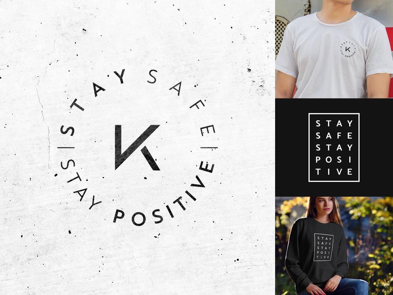 Stay Safe Stay Positive Logo Design minimalism minimal inspiration logo logodesign modern logo brand design identity creative clean positivity clothing brand merch design merchandise merch