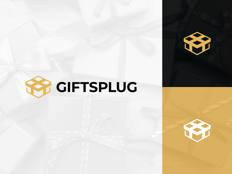 Giftsplug Ecommerce Shopify Logo Mark Design identity clean creative brand identity design branding modern logo minimal logo mark logo present gift box gift shopify ecommerce