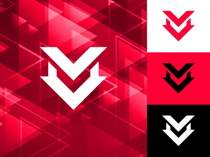 """Vertex """"V"""" Logo Mark Logo Design v letter logo simple brand identity branding content creator youtuber gaming gamer v logo negative space modern minimal logo mark logo designer logo"""