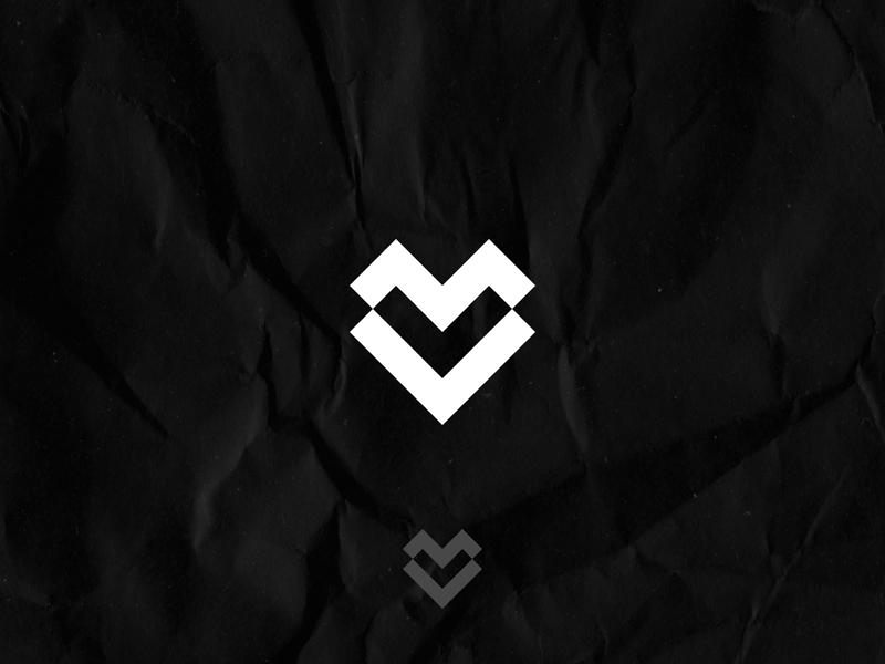 V Logo Mark Heart Logo Design Concept clean branding symbol identity modern minimal negative space v logo concept logo concept logo design logo logo mark heart logo heart
