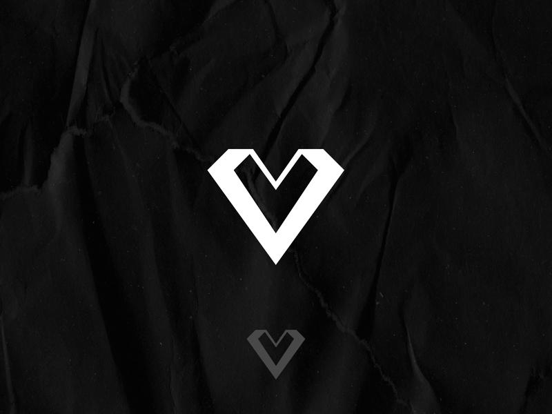 V Logo Mark 3D Effect Logo Design Concept identity v letter 3d logo mark logo logo design logo concept concept v logo negative space minimal modern branding clean