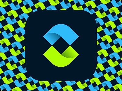 Fintech Style S Logo Mark fintech logo bright graphic design logo designer logo design s logo symbol app icon logomark logo vibrant gradient technology tech fintech