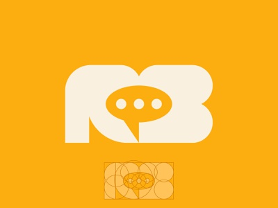 Golden Ratio 'ROB' Voice Acting Speech Bubble Logo Mark negative space negativespace clean logo designer logomark logodesign grid layout grid grid logo goldenratio brand identity logo branding