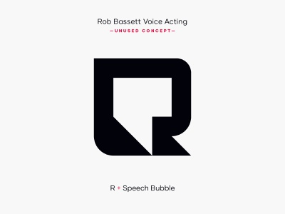 R Speech Bubble Logo Mark Concept mark r logo graphic design design concept logo concept logo mark design clean logo designer identity minimal brand identity branding logo concept