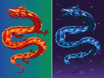 Dragon product illustration illustration digital art low poly low-poly lowpoly lowpolyart