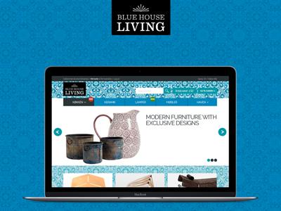 Blue House Living design web