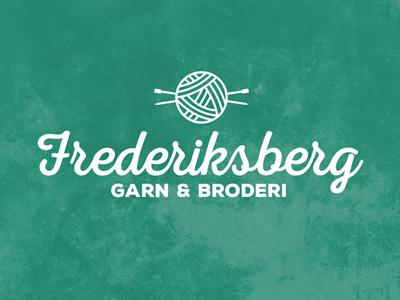 Frederiksberg Garn & Broderi embroidery logo