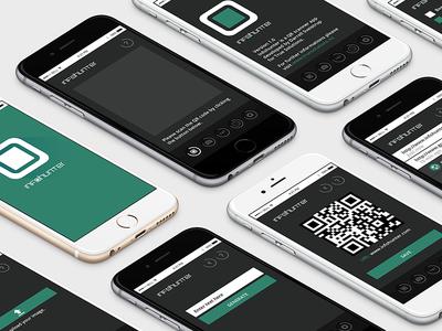 Info Hunter UI Design branding logo ux ui design scanner code qr