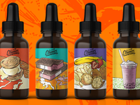 Illustrated Vape Labels