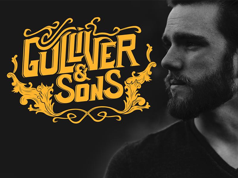 Gulliver & Sons Logo design logo lettering beardcare