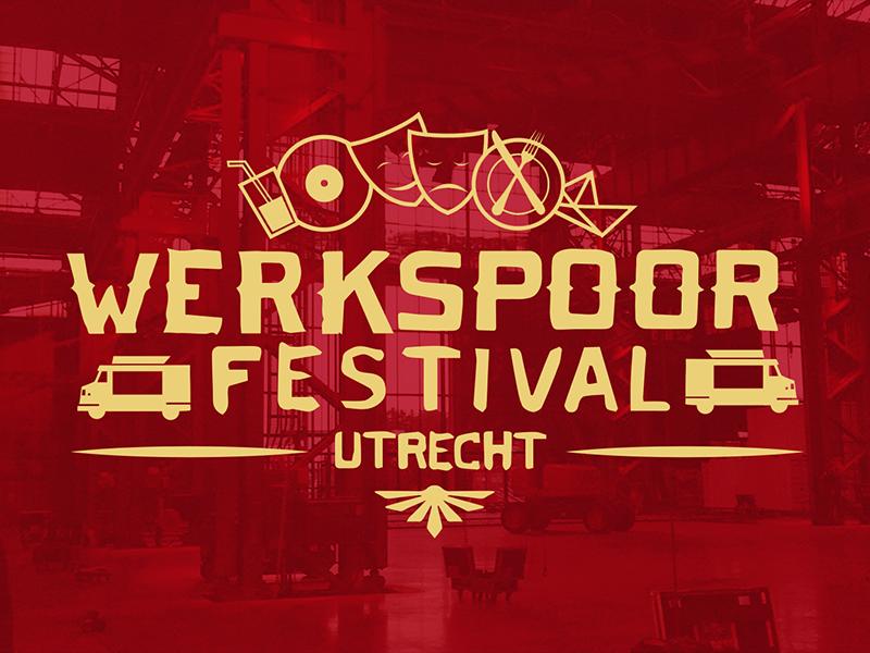 Werkspoor Festival Logo Concept lettering. food festival logo design