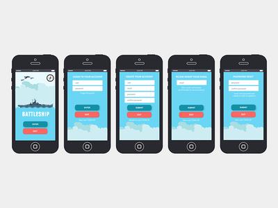 Battleship App UI & Illustration