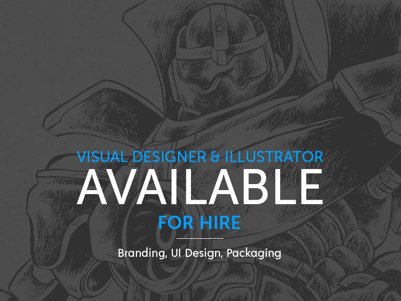 Visual Designer & Illustrator Available For Hire illustrator graphic designer visual designer for hire available ui design label design packaging illustration