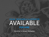 Visual Designer & Illustrator Available For Hire