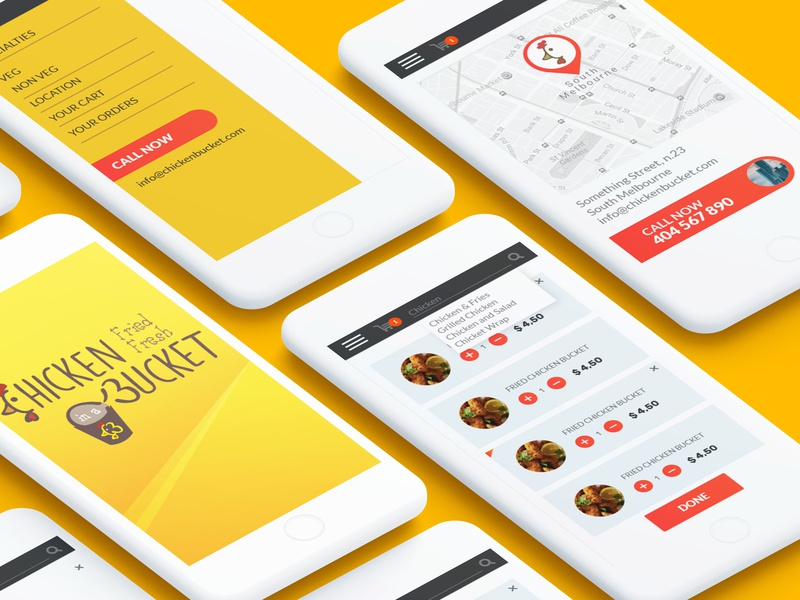 Chicken Bucket - Mobile App UX/UI