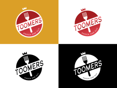 Toomers Logo burger shop food logo fast food logo logo burger logo fast food