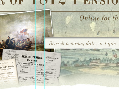 Searching 1812 history search