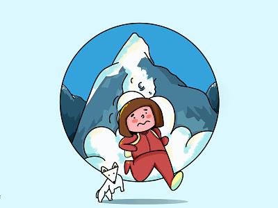 My adventure has begun ipad pro flat illustration precreate branding flat design flat logo illustration
