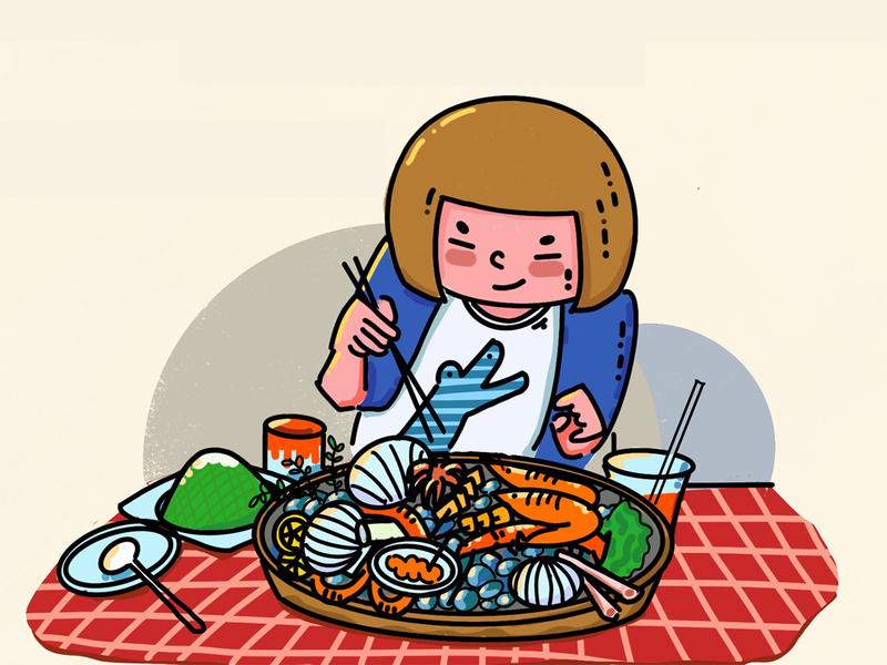 Enjoy my seafood meal