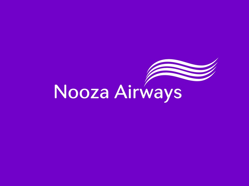 Nooza Airways creative logo creative logo adobe illustrator minimalist logo trendy design modern airline logo air logo aircraft agency logo plane logo airline logo airplane airways logo