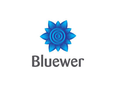 Bluewer Organic Logo | New Modern Logo | Trending Logo amazing logo logodesign flower illustration crystal design crystal gems flowers creative logo shop identity adobe illustrator flower logo
