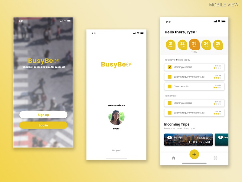 BusyBee - Mockup To-Do List App Design