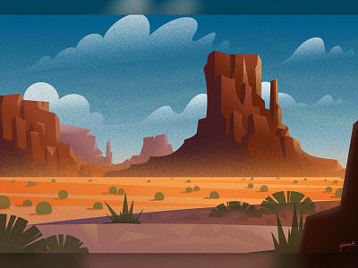 The Desert montañas desierto dissolve textures vector desing vector photoshop clouds mountains desert concept art landscape design illustrator illustration