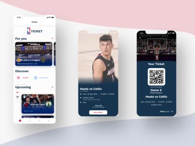 NBA Ticket ux ui design app