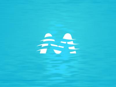 M river logo